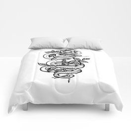 Snake and Rose Comforters