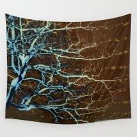 batik Wall Tapestries featuring Batik Tree by Deb MacNeil