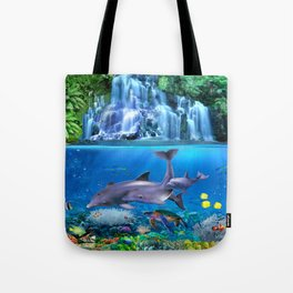 The Dolphin Family Tote Bag
