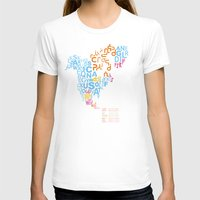 writing T-shirts featuring North America ~ Writing Sistems by Stop::mashina ~r