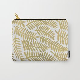 Gold Fronds Carry-All Pouch