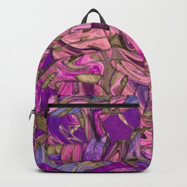 Purples and Blues Liquid Marble Abstract Backpack