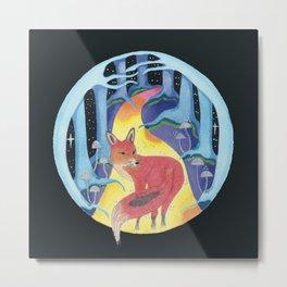 Forest Spirit: Fox Metal Print