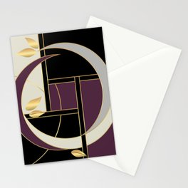 Leaves falling on Rodeo Drive Stationery Cards
