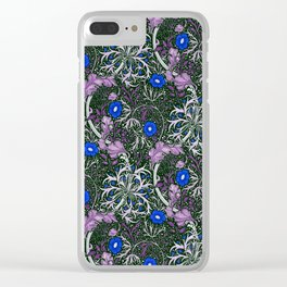 "William Morris ""Seaweed"" 4. Clear iPhone Case"