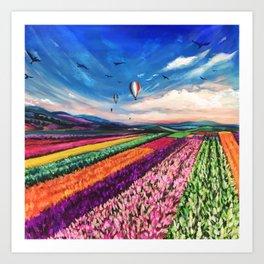 Carlsbad Flower Fields Art Print