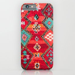 Epic Red Oriental Anthropologie Berber Atlas Moroccan Style iPhone Case