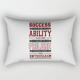 Lab No.4 Success is the ability Sir Winston Churchill Inspirational Quotes Rectangular Pillow