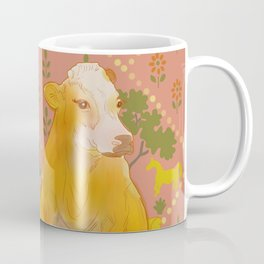 Farm Animals in Chairs #1 Cow Coffee Mug