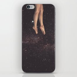Hanging in space iPhone Skin