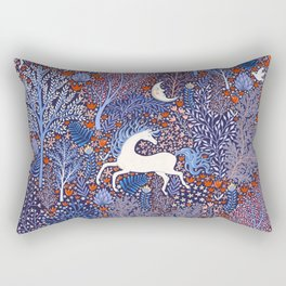 Unicorns in a nocturnal Forest Rectangular Pillow
