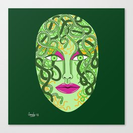 green visage Canvas Print