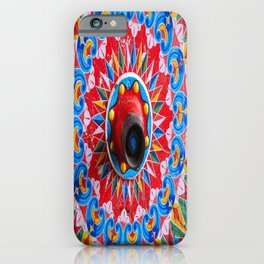 Hand painted wheel iPhone Case