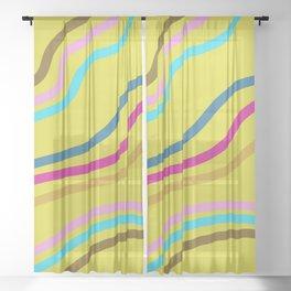 Retro Wiggles Sheer Curtain