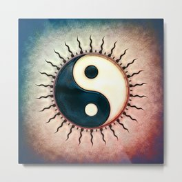 Yin Yang - Sun II Metal Print