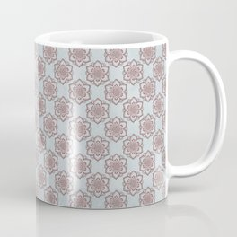 Boho Small Mandala Blue Pink Coffee Mug