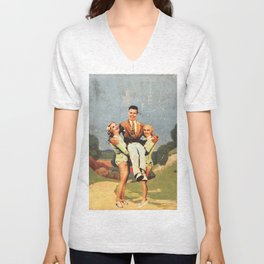 Dames on the South Downs Way Unisex V-Neck