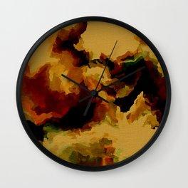 Calm Mustard Amber Wall Clock