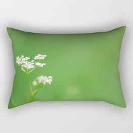 White flower Bieliczna Rectangular Pillow