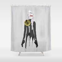 clockwork Shower Curtains featuring Clockwork by SEVENTRAPS