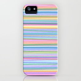 MULTICOLOR RIBBONS PATTERN by gail sarasohn iPhone Case