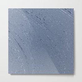 Blue Grey Rainy Windshield Ambience Metal Print
