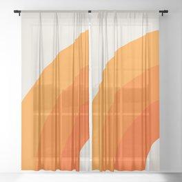 Creamsicle Bow Sheer Curtain