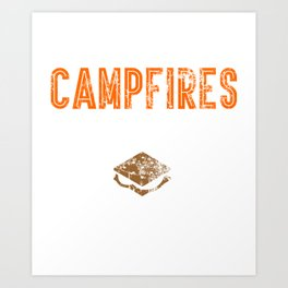 Time For Campfires And Smores Art Print