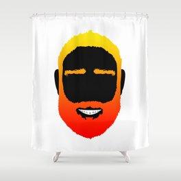 BEARD IS THE NEW BLACK Shower Curtain