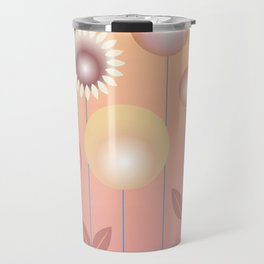 Design with flowers, abstract flower meadow, spring and summer Travel Mug