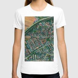 Farm vs City Aerial (Color) T-shirt