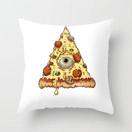Pizzaluminati Confirmed Throw Pillow