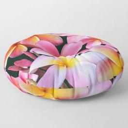 Pink Plumerias Floor Pillow