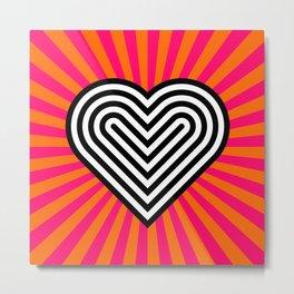 Pop art heart Metal Print