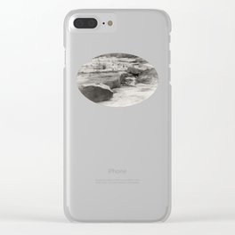 Its a rocky world Clear iPhone Case