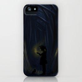 Into deep dark wood iPhone Case