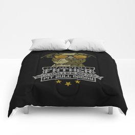 pit bull daddy Comforters