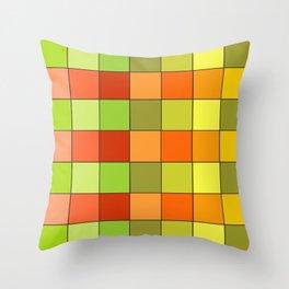 Damier jaune Throw Pillow