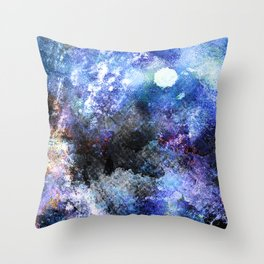 Winter Night Orchard Throw Pillow