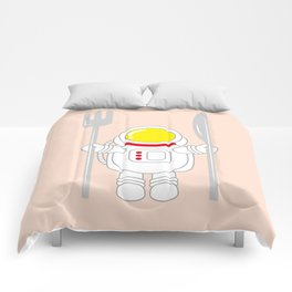 Space Odyssey   Astronaut Eats   Space Utensils   Galaxy Fork and Knife   pulps of wood Comforters