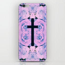 Pastel Rose Cross iPhone Skin