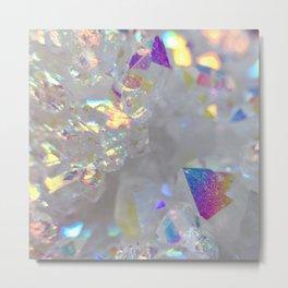 Aurora Borealis Crystals Metal Print