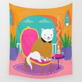 Shisha Cat - whistleburg Wall Tapestry