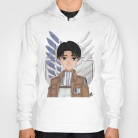 levi Hoodies featuring Levi Rivaille by Larkee Beatz
