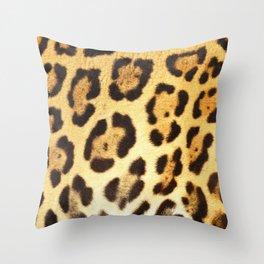Piel de Jaguar Throw Pillow