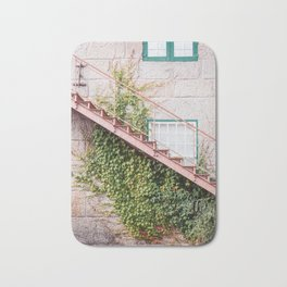 Stone House with Ivy Wall Bath Mat