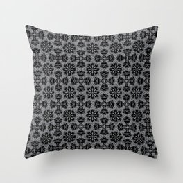 Sharkskin Floral Throw Pillow