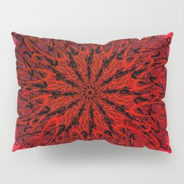 Blood Red & inked Pillow Sham