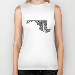 Typographic Maryland Biker Tank