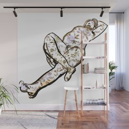 Floral Male Nude Art Print Wall Mural